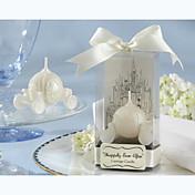 Tema Asiático / Tema Clásico / Tema Fantástico / Baby Shower Los favores de la vela-1 Pedazo / Set Velas Sin personalizar Blanco