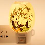 パンダ柄のセラミックランプ夜の光bdesideランプ香り祭りの贈り物