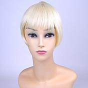 Clip ty.hermenlisa en la explosión del pelo sintético de fibra resistente al calor franja de cabello extensiones postizos, 1 PC, 20g