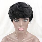 ブラジルのバージン人毛なしのレースのかつら短い自然の波マシンは黒人女性のための短いボブウィッグを作りました