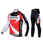 Mysenlan Maillot de Ciclismo con Mallas Hombre Manga Larga Bicicleta Pantalones/Sobrepantalón Camiseta/Maillot Medias/Mallas Largas Sets
