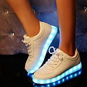 Mujer Zapatos Sintético Invierno Primavera Verano Otoño Confort Zapatos con luz Tacón Plano Hebilla para Deportivo Casual Fiesta y Noche