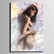 lienzo pintado a mano abstracto de la mujer de la pintura al óleo con estirado enmarcado