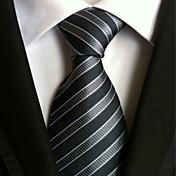 Corbata (Gris , Poliéster)- A Rayas
