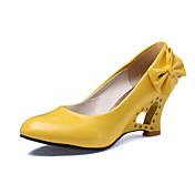 女性用 靴 レザーレット 春 夏 ウエッジヒール のために 結婚式 ドレスシューズ パーティー オフィス&キャリア ホワイト ブラック イエロー レッド
