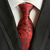 la corbata tejida jacquard roja de la corbata del paisley del partido de los hombres / de la tarde
