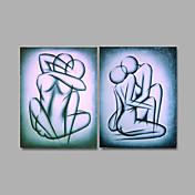 手描きの 抽象画 / ファンタジーModern 2枚 キャンバス ハング塗装油絵 For ホームデコレーション