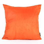 1個45 * 45センチメートルオレンジ色のスエードのクッションカバーホームデコレーション