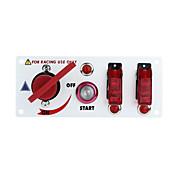 flip-up se inicia panel de interruptores de encendido y accesorios para el deporte de carreras (CC 12V)