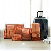 4枚 旅行かばんオーガナイザー 携帯用 小物収納用バッグ バッグ用小物 クロス ナイロン トラベル