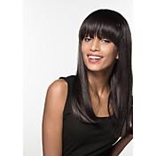 女性 人間の毛のキャップレスウィッグ ハニーブロンド ミディアムオーバーン ブラック ミディアムオーバーン/ブリーチブロンド ベージュブロンド//ブリーチブロンド ロング丈 バング付き