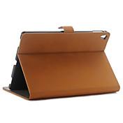 cubierta de cuero de lujo retro del estilo del libro PU de la vendimia con el sostenedor del soporte para casos pro tableta de Apple ipad