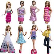 Corte Princesa Disfraces por Muñeca Barbie  Vestidos Faldas Tops Pantalones por Chica de muñeca de juguete