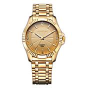 CHENXI® Hombre Reloj de Vestir Reloj de Pulsera Reloj de Moda Simulado Diamante Reloj Japonés Cuarzo La imitación de diamante Acero
