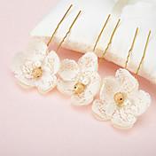perla de encaje de aleación de perlas tocado de pelo elegante estilo femenino clásico