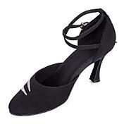 Mujer Moderno Salón Lentejuelas Terciopelo Tacones Alto Hebilla Brillantina Tacón Stiletto Negro No Personalizables