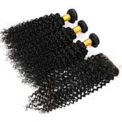 閉鎖が付いている毛横糸 ブラジリアンヘア カール ヘア織り