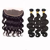 閉鎖が付いている毛横糸 ペルービアンヘア ウェーブ 12ヶ月 4個 ヘア織り