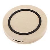 para la nota 4 3 S5 / 4/3 qi cargador inalámbrico almohadilla de madera