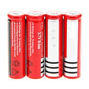 18650.0 Baterías Batería de ion de litio recargable 4200 mAh 4pcs Recargable para Camping/Senderismo/Cuevas