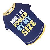 Perro Camiseta Ropa para Perro Transpirable Letra y Número Azul/Amarillo Disfraz Para mascotas