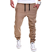男性用 プラスサイズ スウェットパンツ パンツ ソリッド