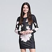 女性用 プラスサイズ ボディコン ドレス 幾何学模様