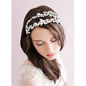 Brillante Legierung Tiaras Bandas de cabeza Flores Coronas Celada