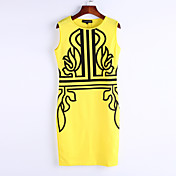 WOMEN - ビンテージ/セクシー/パーティー - ドレス ( コットンブレンド ラウンド - ノースリーブ