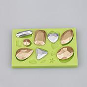 gotas de agua del molde del silicón de la categoría alimenticia forma fondant cake decorating molde ramdon color