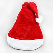 2pcs navidad corta de terciopelo sombrero de santa super suave sombrero de la Navidad