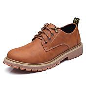 Hombre Zapatos Cuero Primavera Otoño Confort Oxfords Para Casual Gris Marrón Claro Morrón Oscuro