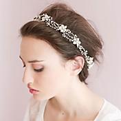 Perla Artificial Zirconia Cúbica Legierung Bandas de cabeza Flores Herramienta para el Cabello Cadena para la Cabeza Celada