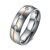 男性用 指輪 キュービックジルコニア ファッション 欧風 ステンレス鋼 イミテーションダイヤモンド ジュエリー 用途 カジュアル