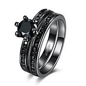 女性 指輪 キュービックジルコニア 高級ジュエリー ジルコン キュービックジルコニア スチール 円形 幾何学形 ジュエリー 用途 結婚式 パーティー 日常 スポーツ