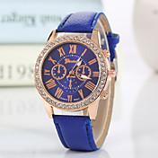 Mujer Reloj de Moda Reloj de Pulsera Cuarzo Diamantes Sintéticos La imitación de diamante PU Banda Encanto Destello Casual Negro Blanco