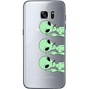 Funda Para Samsung Galaxy S7 edge S7 Diseños Cubierta Trasera Cráneos Suave TPU para S7 edge S7 S6 edge plus S6 edge S6