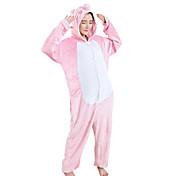 Pijama kigurumi Lechón/Cerdo Pijama Mono Pijamas Disfraz Mink Velvet Rosado Cosplay por Adulto Ropa de Noche de los Animales Dibujos