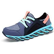 Mujer-Tacón Plano-Confort-Zapatillas de Atletismo-Informal-PU-Azul Morado Gris Caqui
