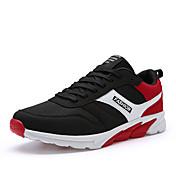 Hombre Zapatos Tul Verano Otoño Suelas con luz Zapatillas de deporte Running Para Deportivo Azul Marino Negro/Rojo Azul Real