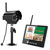 ennio 7インチtftデジタル2.4gワイヤレスカメラは、夜間照明付きの4ch quad dvrセキュリティシステムを監視します.