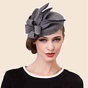 casco de sombreros de aleación de diamantes de imitación de lana estilo femenino clásico