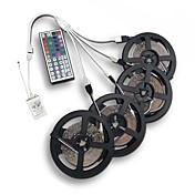 20m (4 * 5m) 3528 rgb 1200led fleksibel strimmel lys ikke-vandtæt dc 12v med 44key ir fjernbetjening kit