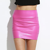 sagetech女性のハイウエストを装着@短い革のスカート(もっと色)