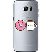 Funda Para Samsung Galaxy S7 edge S7 Ultrafina Transparente Diseños Cubierta Trasera Caricatura Suave TPU para S7 edge S7 S6 edge plus S6