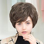 新しい到着の短い自然波人間の髪の毛のキャップレスかつら