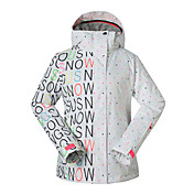 Skitøj Ski/Snowboard Jakker Dame Vintertøj Polyester VintertøjVandtæt Hold Varm Hurtigtørrende Vindtæt Fleecefoer Ultraviolet Resistent
