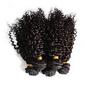 Cabello humano Cabello Brasileño Tejidos Humanos Cabello Rizado Ondulado Extensiones de cabello 1 Pieza Negro