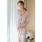Pijama Mujer Seda Satén Seda Sintética
