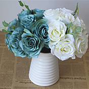 1 Rama Plástico Otros Rosas Flores Artificiales 20*20*23